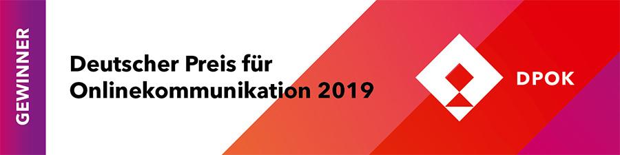 Deutscher Preis für Onlinekommunikation 2019